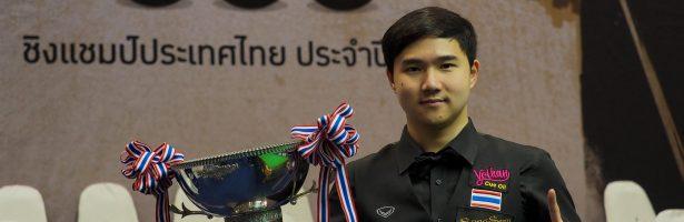 """""""แมน นครปฐม"""" เบียด """"นุ้ก สากล"""" 8-6 เฟรม คว้าแชมป์แสงโสม 6 แดง ชิงแชมป์ประเทศไทย 2018"""
