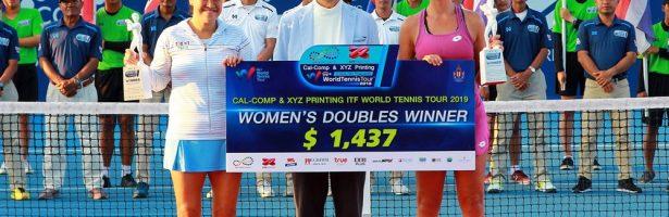 แทมมี่คัมแบ็ค ! ซิวแชมป์หญิงคู่รายการไอทีเอฟ เวิลด์ เทนนิส ทัวร์ 2019 #25เค ดับเบิลยู2