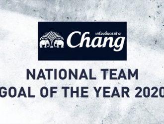 """""""แบงค์ ศุภณัฏฐ์"""" คว้ารางวัล Chang Nation Team Goal of The Year 2020"""